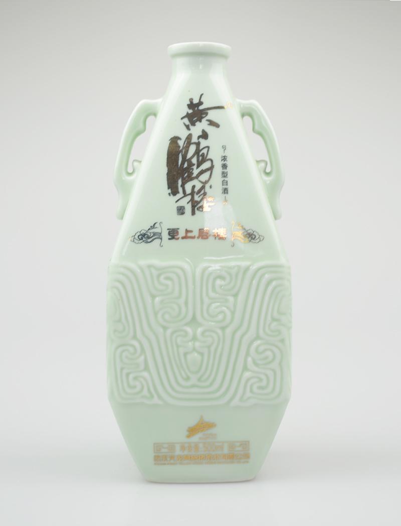 黄鹤楼乳白玻璃瓶