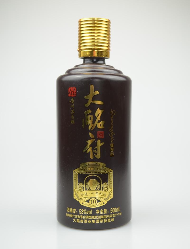 古酩府烤花玻璃酒瓶