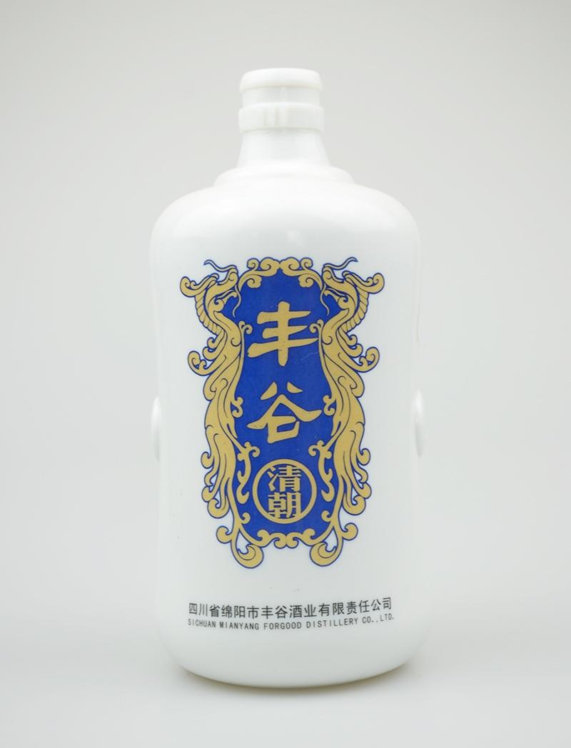 丰谷乳白烤花酒瓶
