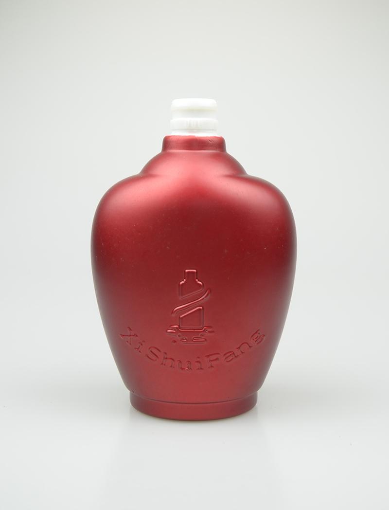 彩釉玻璃酒瓶
